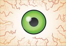Carta da parati dell'occhio verde illustrazione vettoriale