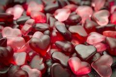 Carta da parati della caramella del cuore Fotografia Stock