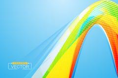 Carta da parati della curva di colori su un blu Immagine Stock Libera da Diritti