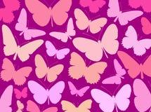 Carta da parati delle farfalle Fotografie Stock Libere da Diritti