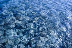 Carta da parati dello scaffale del mare attraverso acqua Fondo del marinaio della lente dell'acqua Fondo marino sotto acqua immagine stock