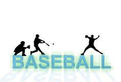 Carta da parati di baseball Fotografia Stock Libera da Diritti