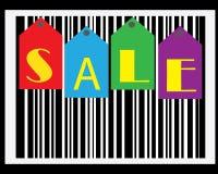 Carta da parati di codice a barre di vendita Fotografia Stock Libera da Diritti