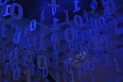 Carta da parati di codice binario Fotografia Stock Libera da Diritti