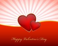 Carta da parati di giorno di biglietti di S. Valentino Fotografia Stock