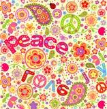 Carta da parati di hippy Immagini Stock