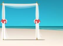 Carta da parati di nozze di spiaggia Fotografie Stock Libere da Diritti
