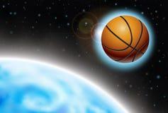 Carta da parati di pallacanestro Fotografie Stock