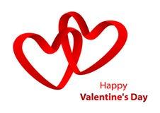 Carta da parati di saluto di San Valentino su fondo bianco Fotografia Stock Libera da Diritti