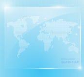 Carta da parati di vetro brillante della mappa di mondo, Fotografia Stock