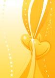Carta da parati dorata del biglietto di S. Valentino di vettore Immagine Stock Libera da Diritti