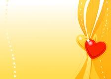 Carta da parati dorata del biglietto di S. Valentino di vettore Fotografia Stock