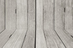 Carta da parati e pavimento di legno in bianco e nero Immagine Stock