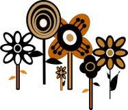 Carta da parati floreale di anni sessanta Immagine Stock