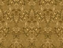 Carta da parati floreale di lusso del damasco Fondo senza cuciture del modello Illustrazione di vettore illustrazione vettoriale