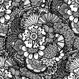 Carta da parati floreale disegnata a mano Fotografie Stock Libere da Diritti