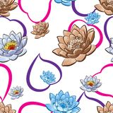 Carta da parati floreale senza cuciture Immagine Stock