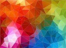 Carta da parati geometrica del triangolo di colore multicolore Fotografia Stock