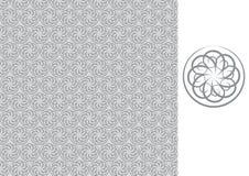 Carta da parati-grigio senza giunte floreale Immagini Stock