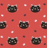 Carta da parati nera sveglia del gattino Immagini Stock Libere da Diritti