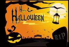 Carta da parati o priorità bassa di Halloween illustrazione di stock
