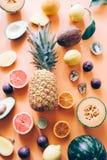 Carta da parati organica della verdura e della frutta Immagine Stock