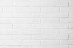 Carta da parati orizzontale della foto del muro di mattoni bianco nella stanza Scandin Fotografia Stock