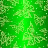Carta da parati ornamentale senza giunte con la farfalla Immagini Stock