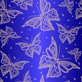 Carta da parati ornamentale senza giunte con la farfalla Fotografie Stock Libere da Diritti
