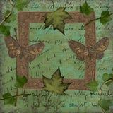 Carta da parati romantica dei lepidotteri della foglia illustrazione di stock