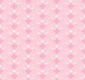 Carta da parati rosa senza cuciture per gli interni Fotografie Stock Libere da Diritti