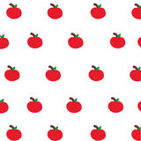 Carta da parati rossa sveglia della mela Fotografie Stock