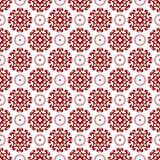 Carta da parati rossa trasparente cinese araba d'annata reale senza cuciture floreale orientale ornamentale astratta di struttura illustrazione di stock