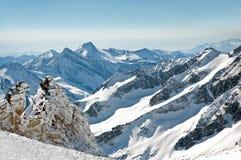 Carta da parati scenica dall'alta montagna in Al austriaco Immagini Stock