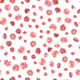 Carta da parati senza cuciture del fiore acquerello sfocato illustrazione vettoriale