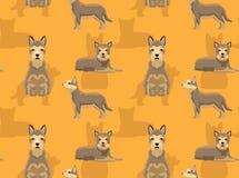 Carta da parati senza cuciture del fondo di Berger Picard del cane Royalty Illustrazione gratis