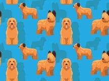 Carta da parati senza cuciture del fondo del fumetto di Briard del cane Illustrazione Vettoriale