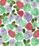 Carta da parati senza cuciture dell'acquerello variopinto dell'estratto del fiore di Rose Flower Fotografia Stock Libera da Diritti