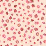 Carta da parati senza cuciture di acqua del fiore sfocato di colore illustrazione vettoriale