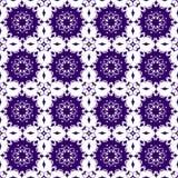 Carta da parati senza cuciture di struttura del modello di Violet Floral Beautiful Royal Vintage dell'estratto porpora blu orient Fotografia Stock
