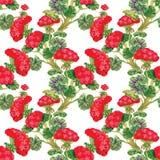 Carta da parati senza cuciture floreale nello stile dell'acquerello Immagine Stock