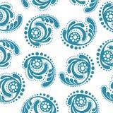Carta da parati senza giunte modello blu astratto su un fondo bianco Immagine Stock