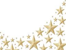 Carta da parati stellata della stagnola di oro Fotografia Stock
