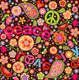 Carta da parati variopinta di hippy con l'anguria Immagini Stock Libere da Diritti
