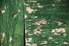 Carta da parati - vecchia pittura verde su legno Immagini Stock Libere da Diritti