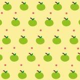 Carta da parati verde sveglia della mela Immagini Stock Libere da Diritti