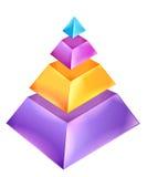 carta da pirâmide 3D Imagens de Stock