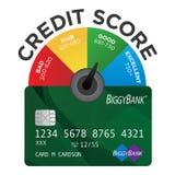Carta da pontuação de crédito ilustração royalty free