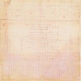 Carta da registro antica Grungy dell'annata Fotografie Stock Libere da Diritti