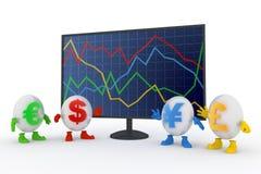 Carta da troca Imagens de Stock